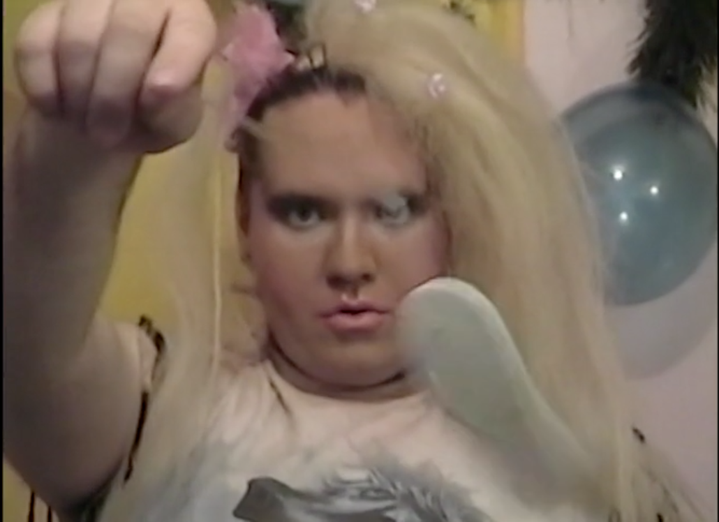 "Still image from ""Miss Edmonton Teenburger 1983 in It's Party Time!"", Amy Lockhart, 2001 (CFMDC)"