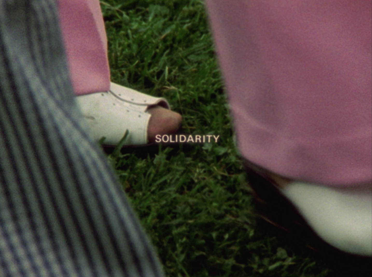 "Still image from ""Solidarity"", Joyce Wieland, 1973 (CFMDC)"