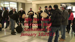 Idle No More Round Dance Midtown Mall Saskatoon SK January 10, 2013